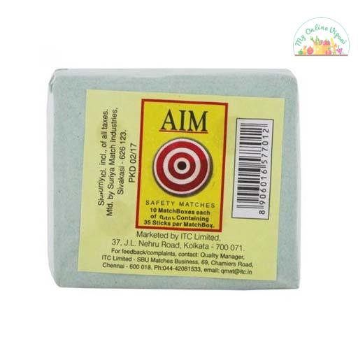 Aim Safety Matches 10 Match Boxes