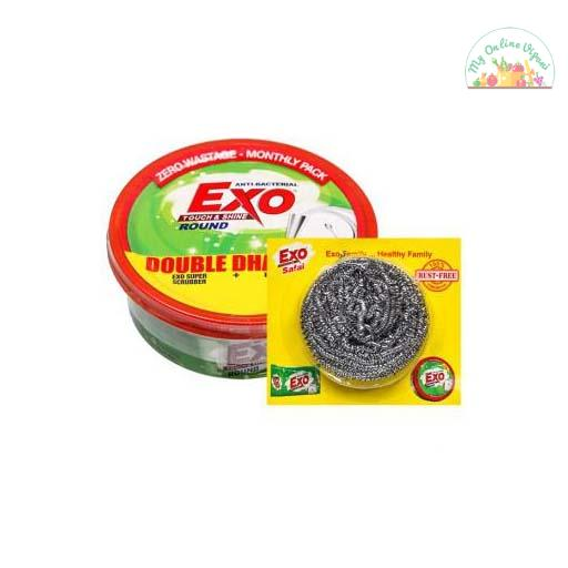 Exo Round Dish Wash Bar 500g Box With Free Scrubber