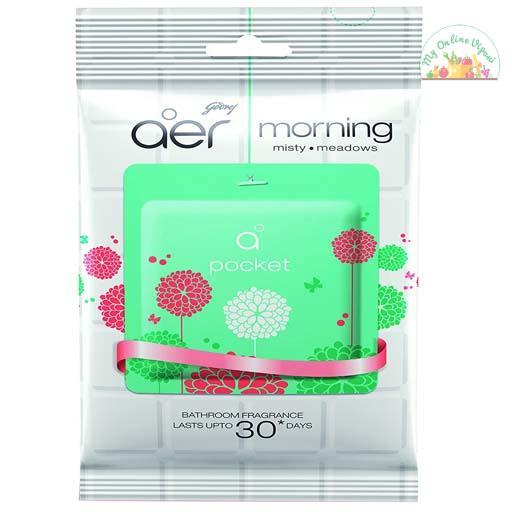 Godrej Aer Pocket Bathroom Air Fragrance – Morning Misty Meadows 10g