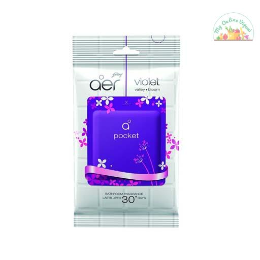Godrej Aer Pocket Bathroom Fragrance – 10 G Violet Valley Bloom