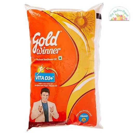 Gold Winner Refined Sunflower Oil 1Ltr