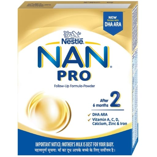 Nestle NAN PRO 2 Follow Up Formula Powder After 6 months Stage 2 400g Bag In Box Pack My Online Vipani