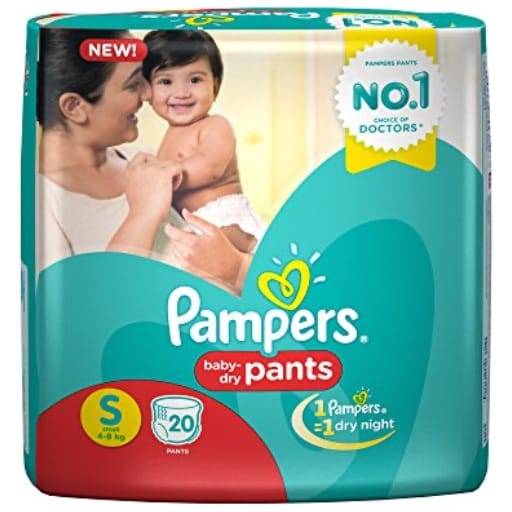 Pampers Small Size Diaper Pants 20 Count My Online Vipani