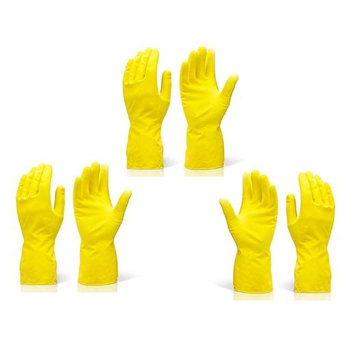 Rubber Hand Gloves Reusable Washing Cleaning Kitchen Garden