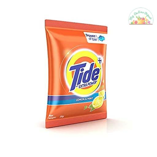 Tide Plus Detergent Washing Powder With Extra Power Lemon And Mint Pack – 1 Kg