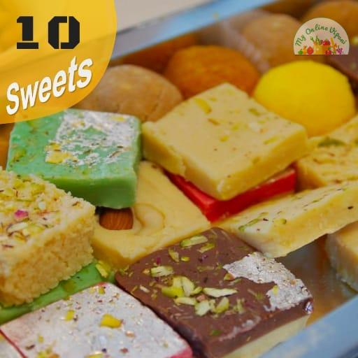 Diwali Sweet Box 10 Items