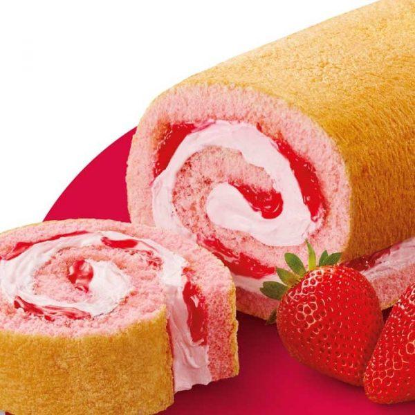 Winkies Swiss Roll Strawberry